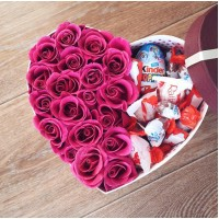 Коробочка с голландскими розами